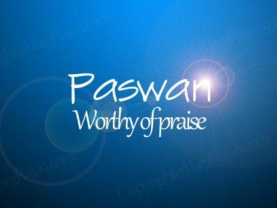 paswan Worthy of praise
