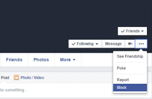 Facebook block option