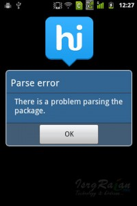Hike Messenger Parse Error