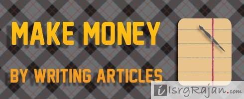 Earn writing articles