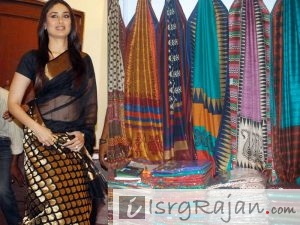 Kareena Kapoor in chanderi Saree