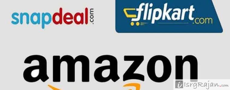 Amazon, Flipkart and Snapdeal