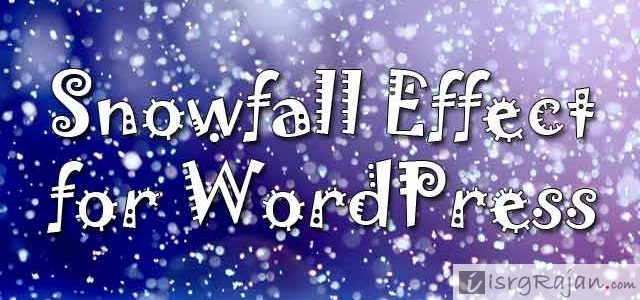 Snowfall effect for Wordpress without Plugin