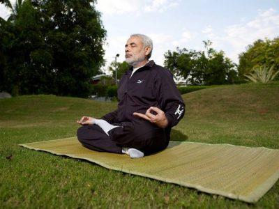 Narendra Modi doing Youga
