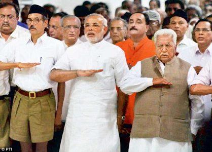 Narendra Modi at RSS