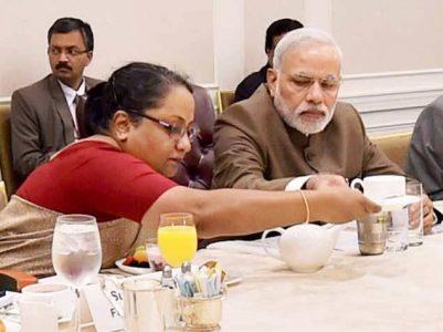 Narendra Modi eating