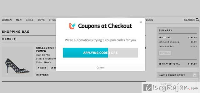Google checkout coupon code