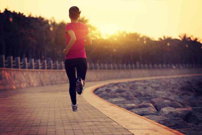 girl morning run