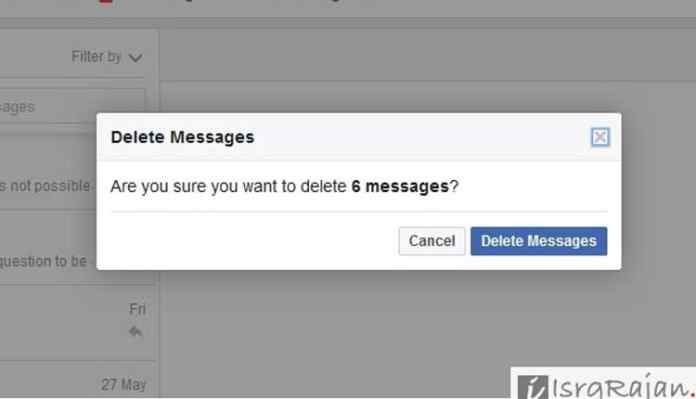 Delete Facebook Page messages