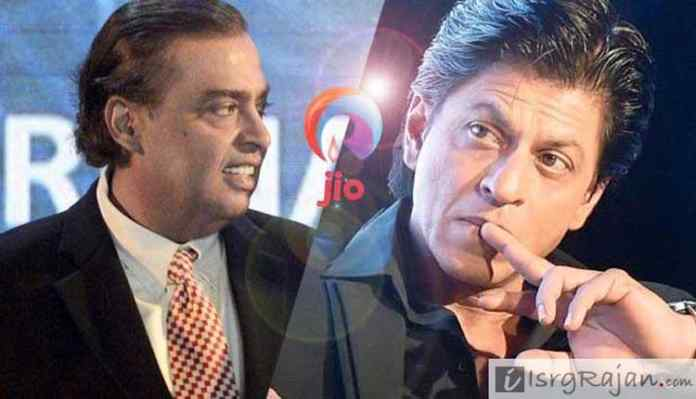 Relinace Jio Mukesh Ambani and Shah Rukh Khan