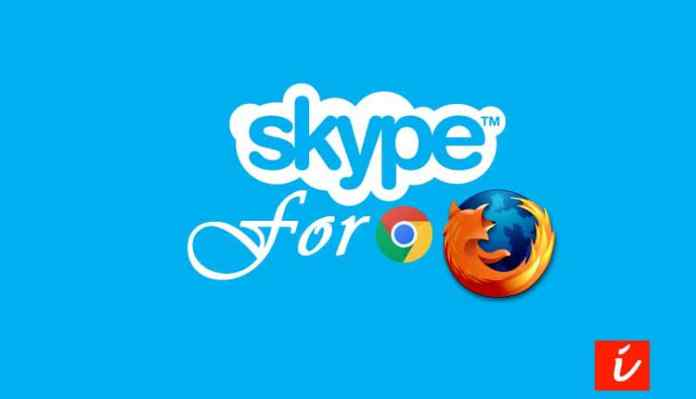 Skype browser calling and chat