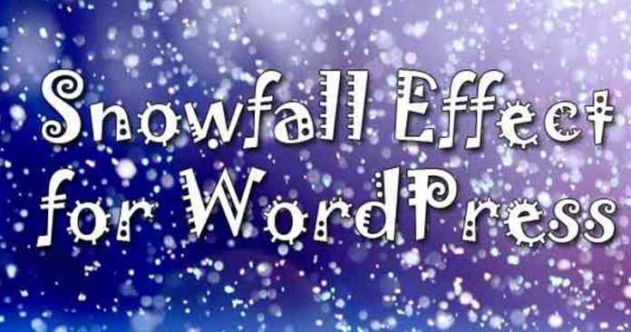 WordPress snowfall effects
