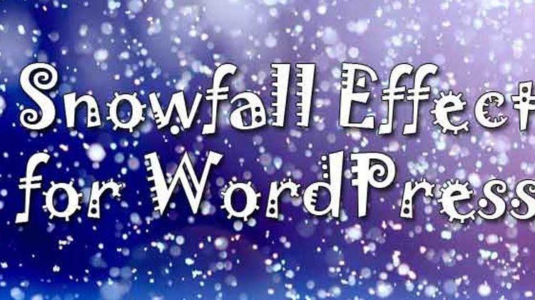 WordPress snowfall effects