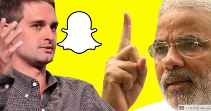 Snapchat founder Ivan Spiegel and Narendra Modi