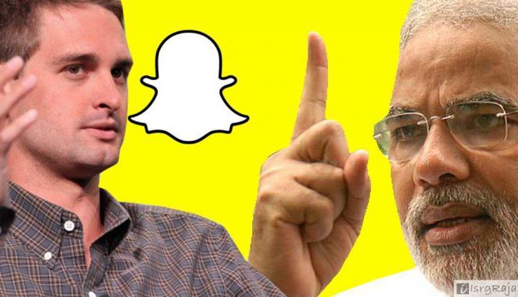Snapchat founder Ivan Spiegel and Narendra Modi