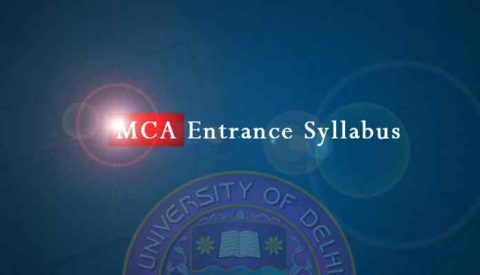 MCA Entrance Syllabus