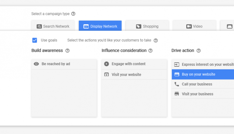 Google Adwords Campaign Construction drive action
