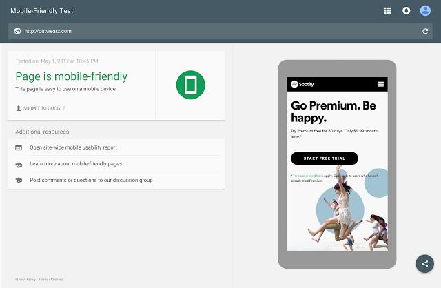 Google AdWords landing page Test