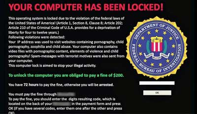Fake FBI ransomware attack