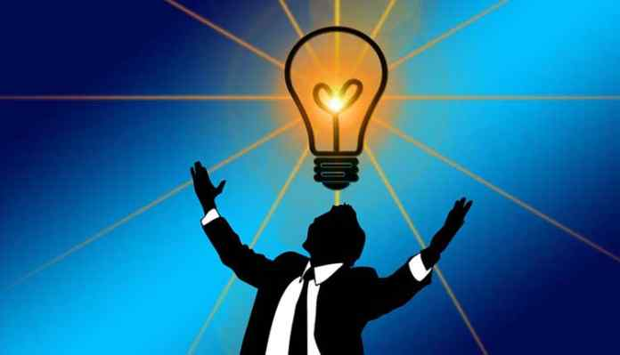 Man with Bulb and Idea