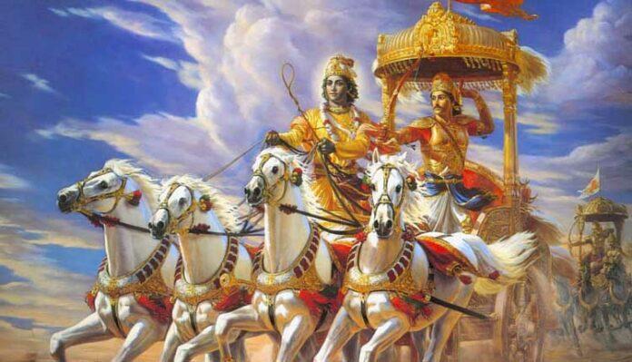 mahabharat krishna and arjun