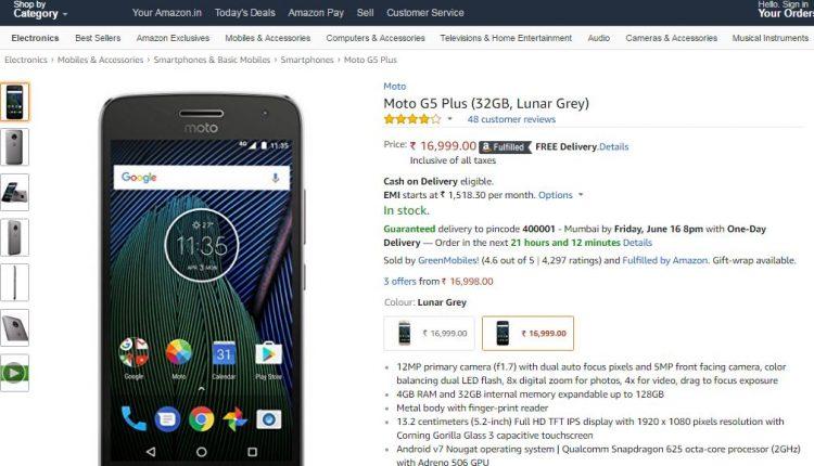 Moto G5 PLUS on Amazon