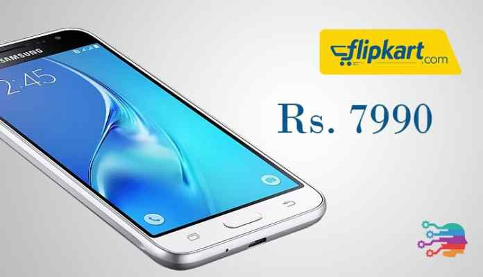 Samsung J3 on Flipkart