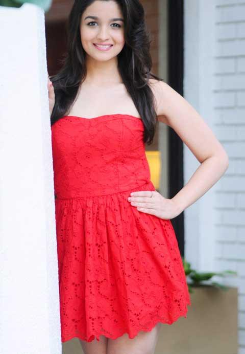 Alia Bhatt in Red Top Dress