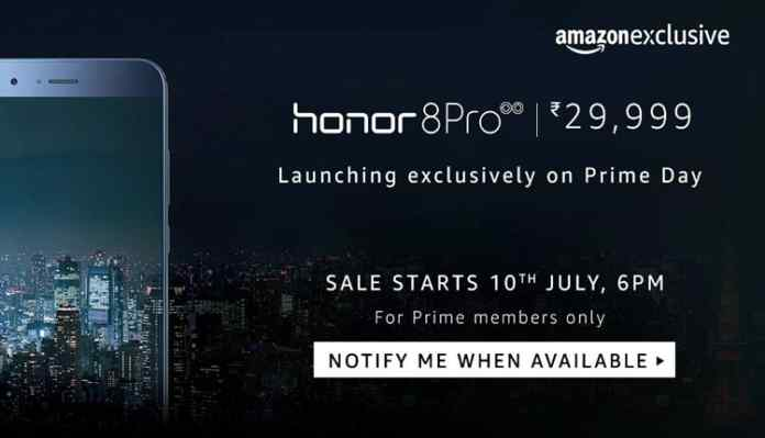Honor 8 Pro To Be Available Exclusively On Amazon Along With 45 GB Free Data Cashback Offer
