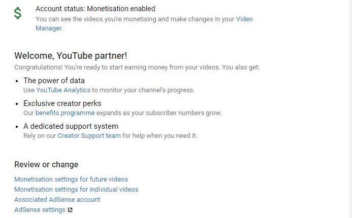 YouTube Monetisation