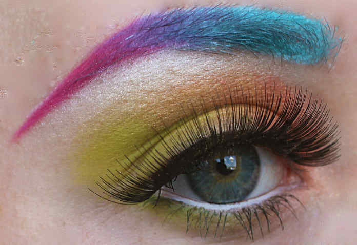 Make up trends, rainbow eyebrows