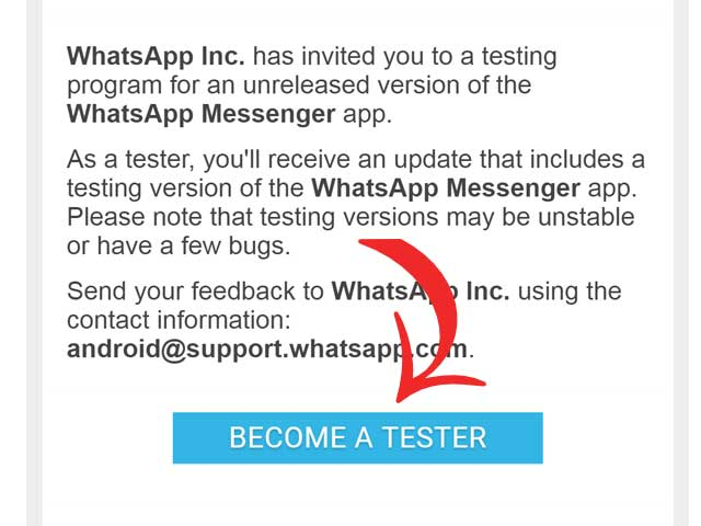 Android App Testing Whatsapp