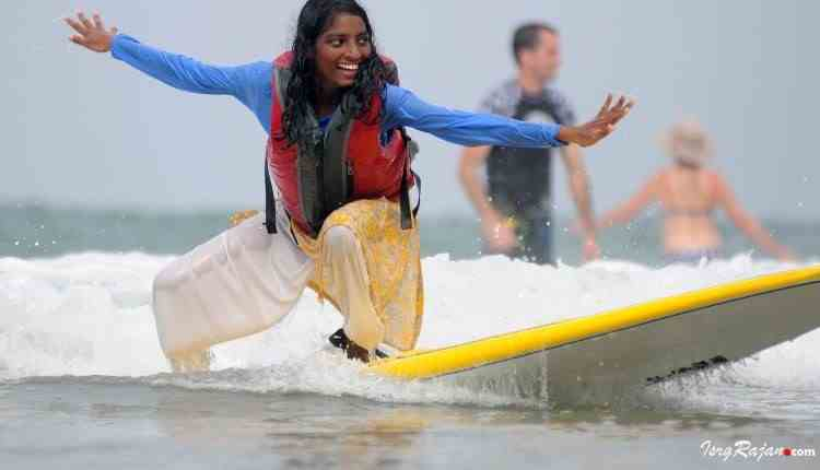 Surfing in India
