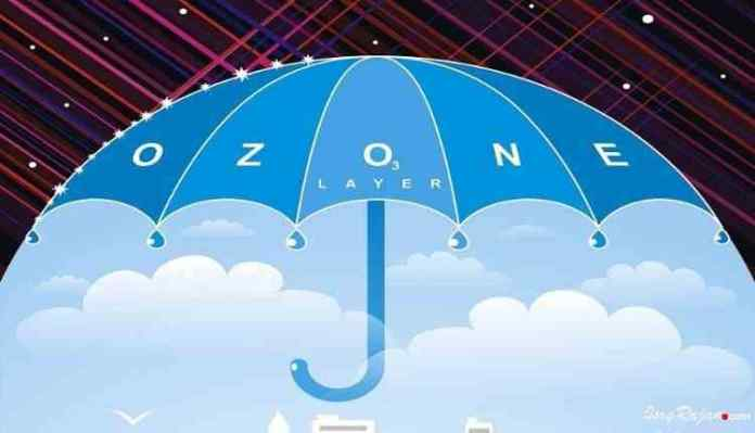 OZone layer with umbrella
