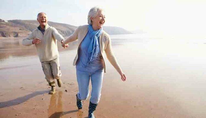 Aged couples enjoying life