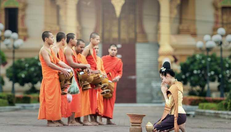 Laos, Monks, India, Relationship