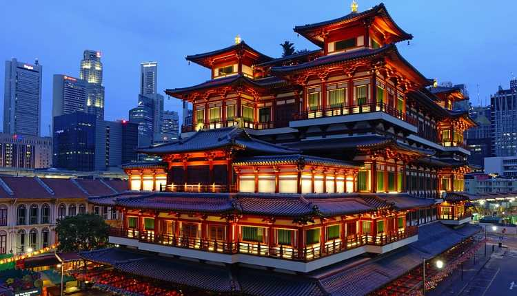 Singapore, buddha tooth relic, temple, India, relationship
