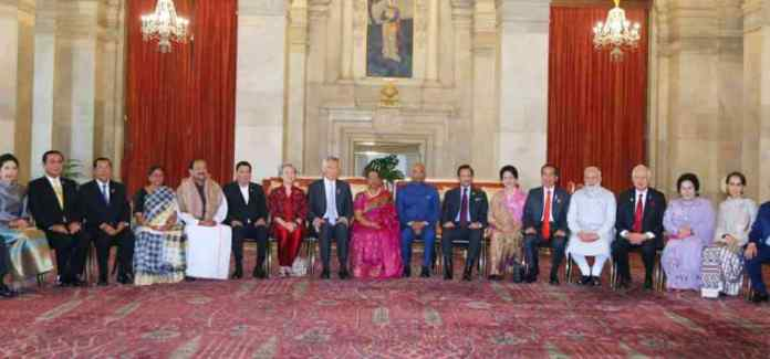 ASEAN Leaders at Retreat with PM Modi and President