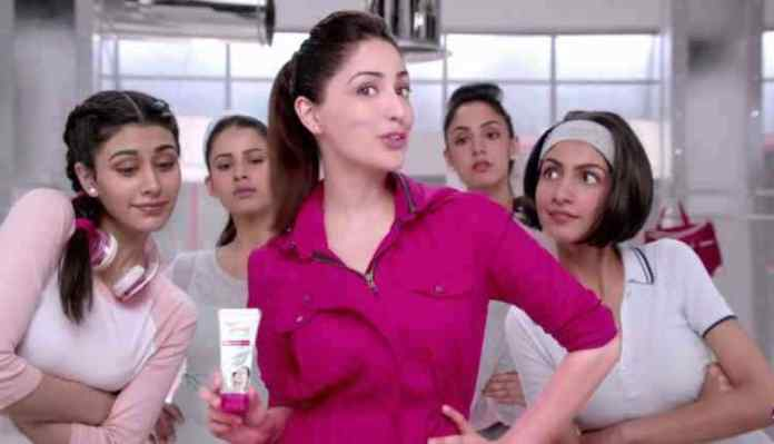 Yami Gautam, fair and lovely ad