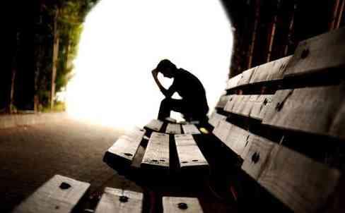 Depressed men shadow