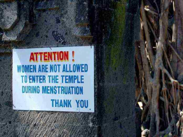 Women are not allowed during menstruation
