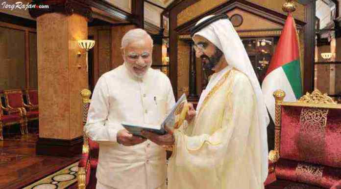 Narendra Modi in UAE with Crown Prince