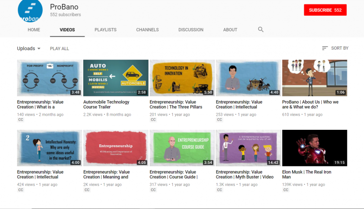 YouTube for Education: Probano