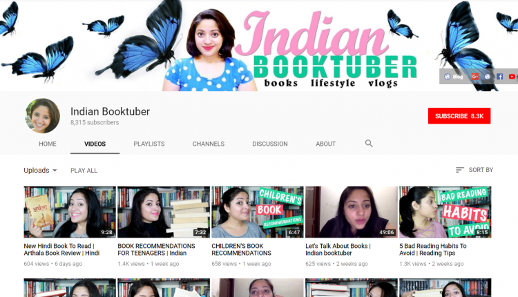 YouTube Channel for Book: IndianBookTuber