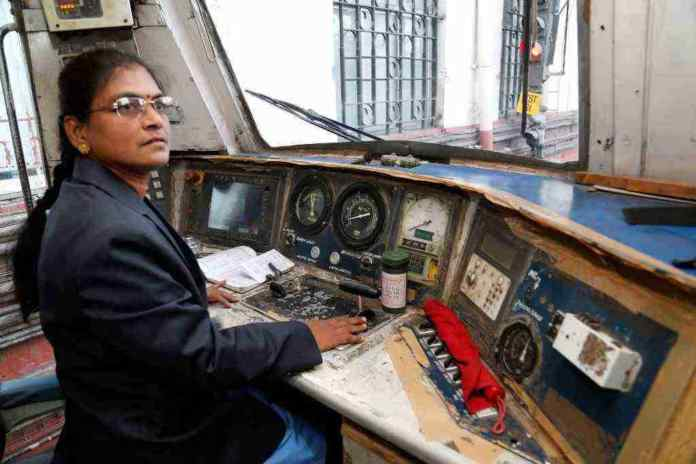 first indian woman as loco pilot