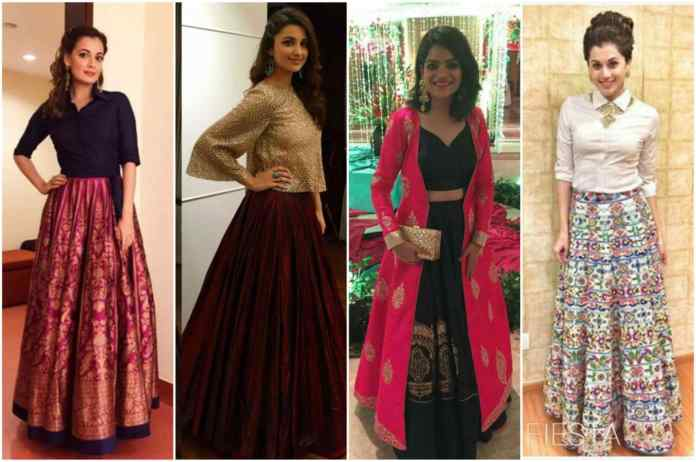 Indo Western Outfits with Lehenga