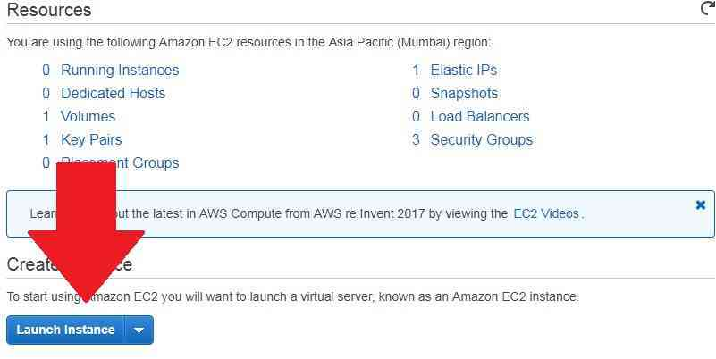 aws launch instance