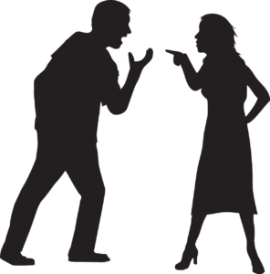 Couples arguing, clip art, shadow, husband, wife