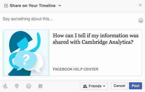 How can I tell if my information was shared Cambridge Analytica