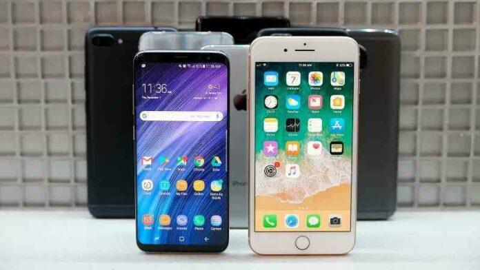 Smartphone, iPhone Samsung